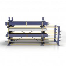 Roll-aus-Regal doppelseitig