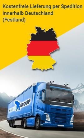 Kostenfreie Lieferung per Spedition innerhalb Deutschland